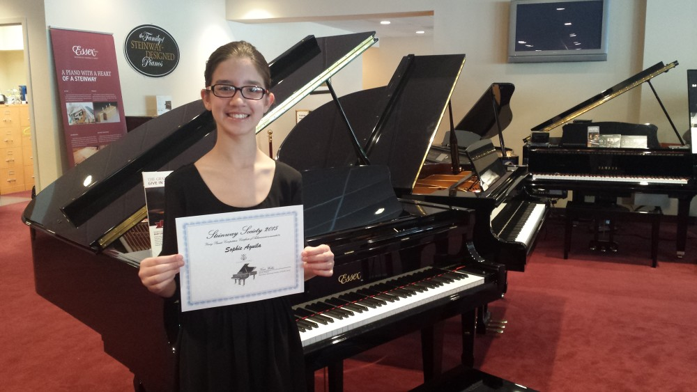 Sophie performing at Steinway Society of South Jersey